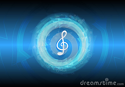 Abstract music note background