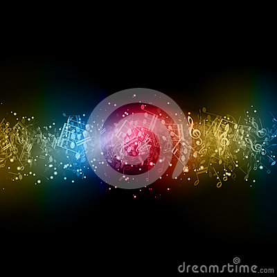 Abstract music note image page