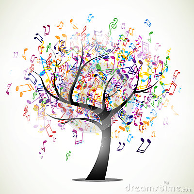 Free Abstract Music Tree Stock Image - 30173881