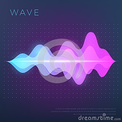 Free Abstract Music Vector Background With Sound Voice Audio Wave, Equalizer Waveform Stock Photography - 115601982