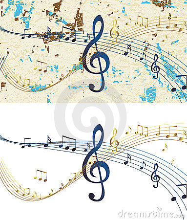 Abstract musical design raster