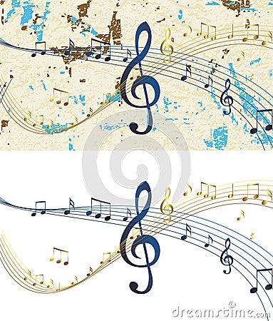 Abstract musical design raster