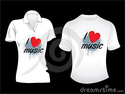 Abstract musical tshirt design
