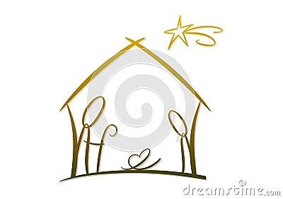 Abstract Nativity Symbol Stock Photo Image 21961050
