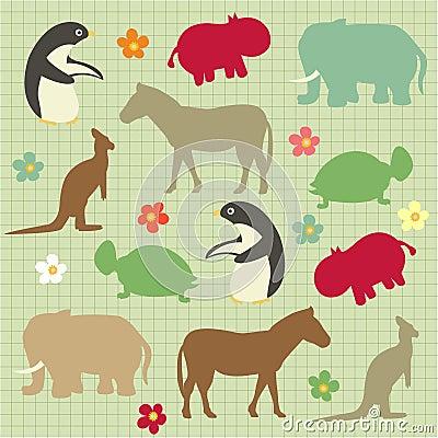 Abstract natural animal pattern