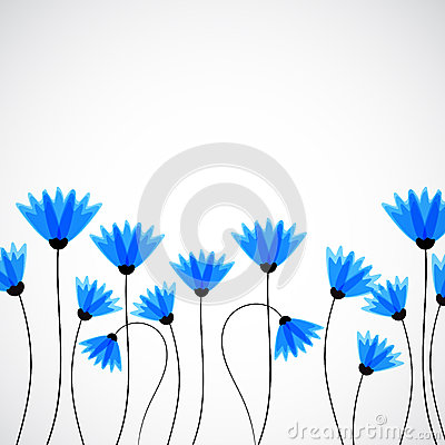 Free Abstract Nature Background. Blue Cornflowers. Stock Photo - 54305230
