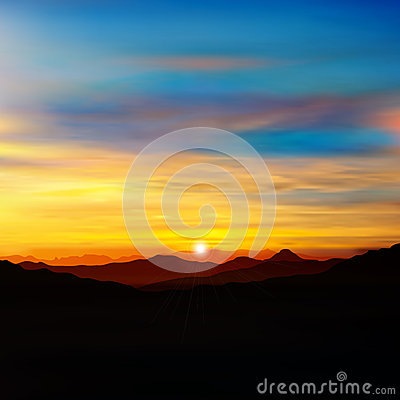 Free Abstract Nature Green Background With Gold Sunrise Royalty Free Stock Image - 36487306