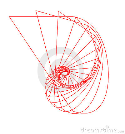 Free Abstract Nautilus Outline Stock Image - 2188861