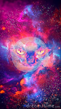 Free Abstract Nebula Cat Background - 8K Resolution Royalty Free Stock Images - 103558189