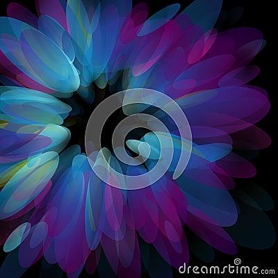Abstract neon petals. Vector illustration.