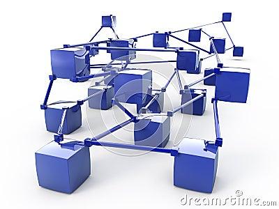 Abstract network 3d scheme