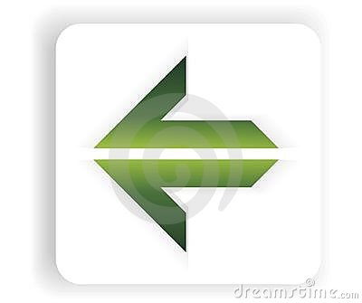 Abstract New green single arrow