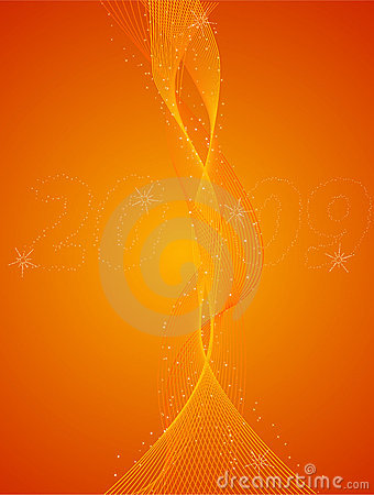 Abstract New Years Eve orange background