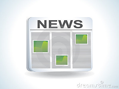 Abstract news icon