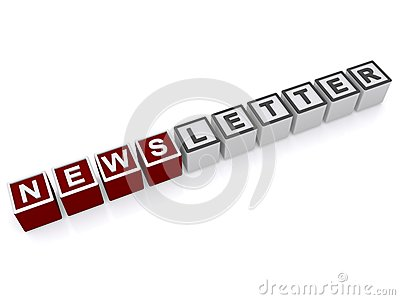 Abstract newsletter sign
