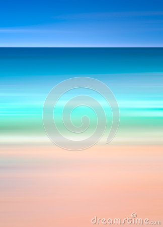 An abstract ocean seascape with blurred motion. Image displays a retro, vintage look with cross-processed colors.