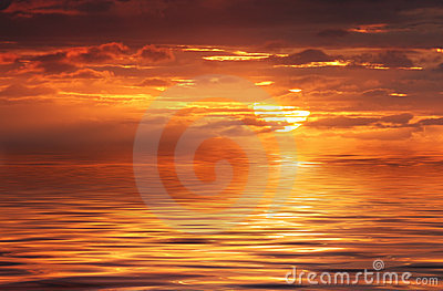 Abstract Ocean and Sunrise