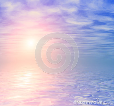 Ocean sunrise skyline background