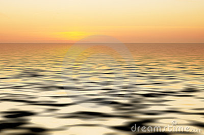 Abstract ocean and sunset back