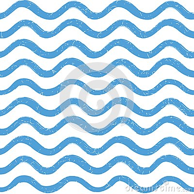Free Abstract Ocean Wave Seamless Pattern. Wavy Line Stripe Background. Royalty Free Stock Images - 109871049