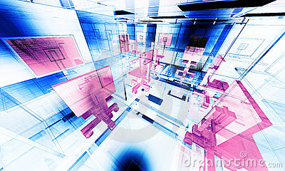 Abstract office