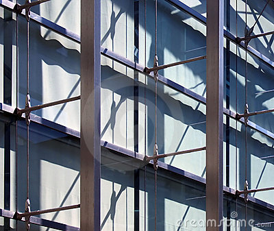 Abstract office building structure,