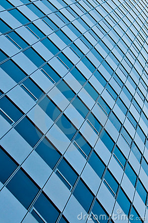 Abstract office building wall