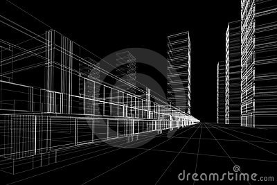 abstract office construction