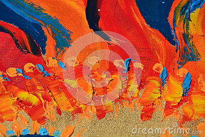 Abstract oil flames like paint stock photo image 57861156 for Different types of abstract art