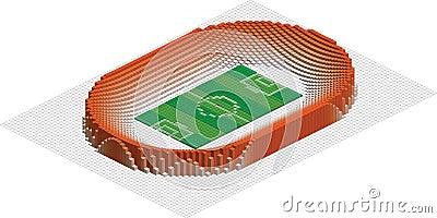 Abstract Olympic football stadium