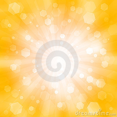 Abstract orange background with the flash