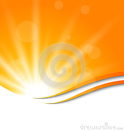 Free Abstract Orange Background With Sun Light Rays Royalty Free Stock Photos - 39962948