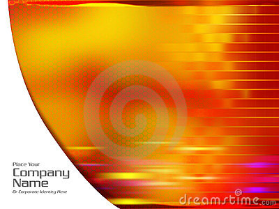Abstract orange Hi Res template illustration