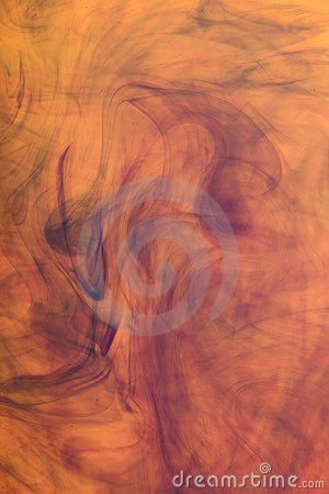 Abstract Orange Ink Image