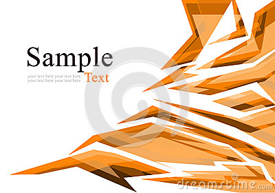 Abstract orange polygon