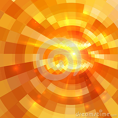 Free Abstract Orange Shining Circle Tunnel Background Stock Image - 36528171