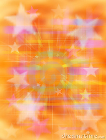 Abstract Orange Star Background