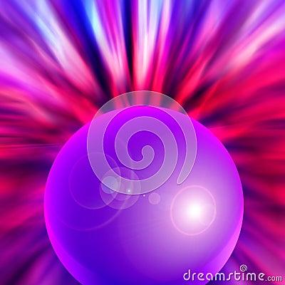 radiating orb