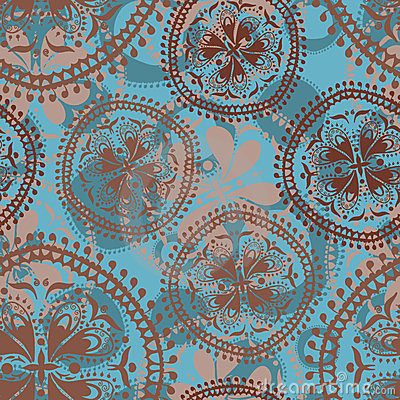 Abstract oriental seamless pattern