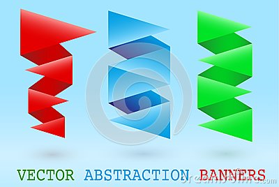 Abstract origami banner