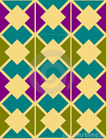 Abstract ornamental geometric