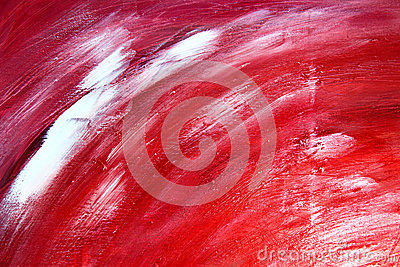 Abstract paint background in red colors