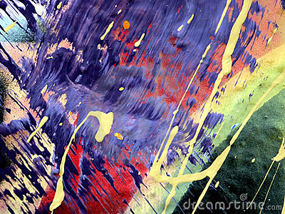 Abstract Paint Drips