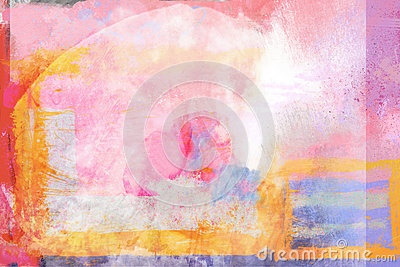 Abstract Painterly Warm Bright Background