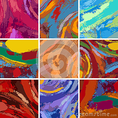 Free Abstract Painting Background Design Set Stock Images - 30690654