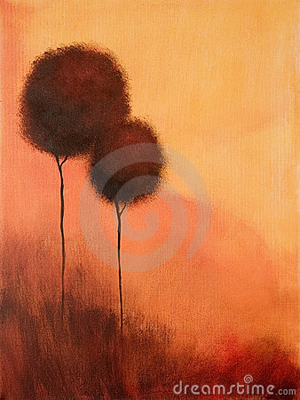 Free Abstract Painting Trees Stock Photography - 2823742