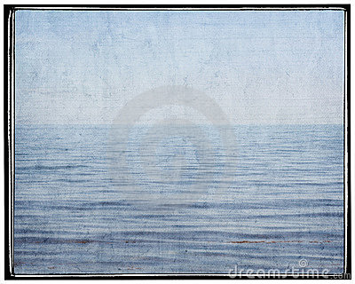 Abstract paper with sea view
