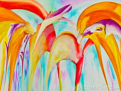 Abstract Paradise Flowers
