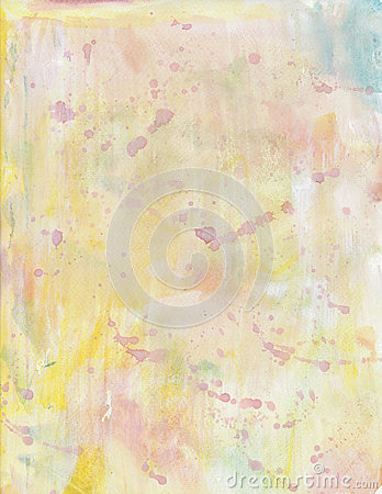Abstract pastel yellow watercolor paint background