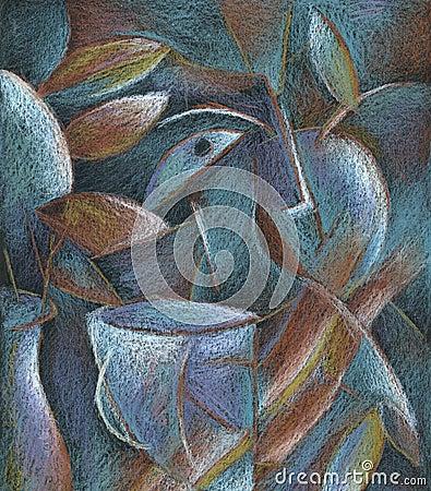 Abstract pastelkleur het schilderen art.